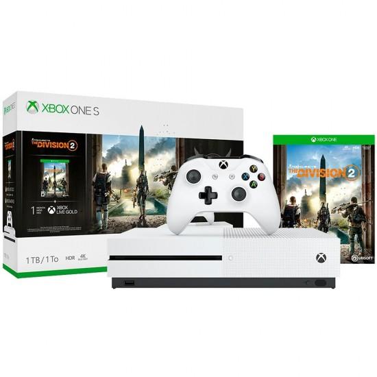 Console Microsoft Xbox One S 1TB Branco + Game The Division 2