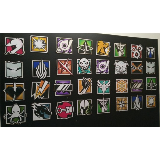 Placas Decorativas - Rainbow Six Siege - R6