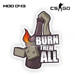 Adesivo - Burn Them All