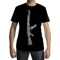 Camiseta - AK-47 - Palavras