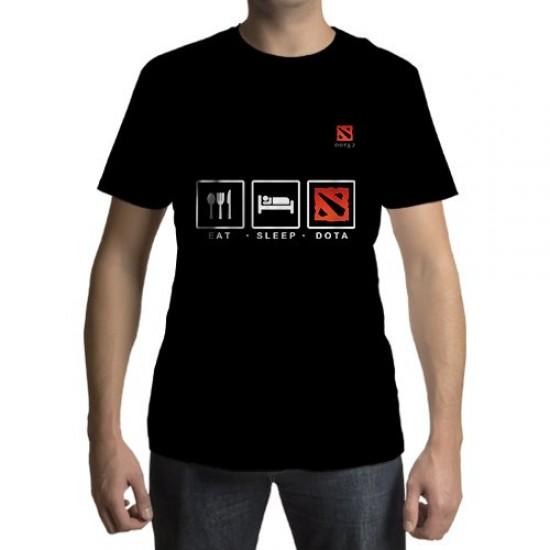 Camiseta - Eat - Sleep - Dota
