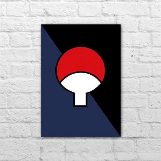 Placa - Naruto - Simbolo do Clã Uchiha