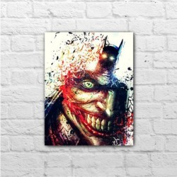 Placa - Batman x Coringa - Art