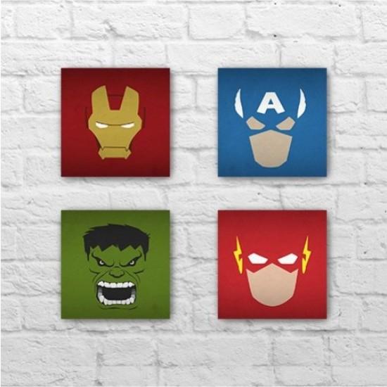 Placa - Marvel - DC - Kit