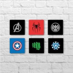 Placa - Avengers Assemble - Kit