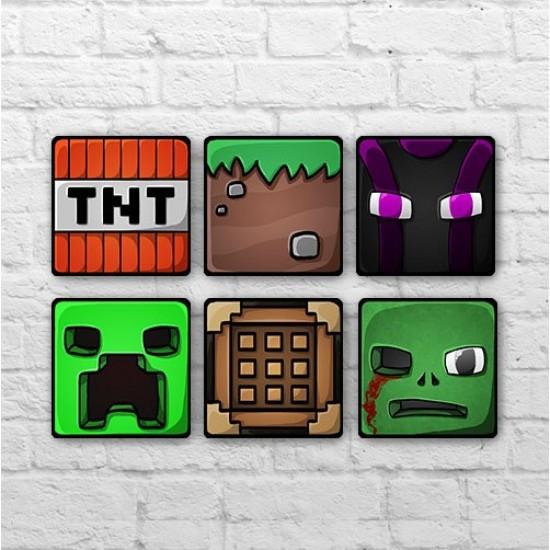 Placa - Minecraft Icons - Kit