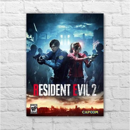 Placa - Resident Evil 2 - Poster
